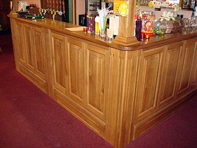 Barový pult, materiál masiv dub